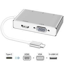 Portatile Tipo C a HDMI VGA USB 3.0 Convertitore Audio Video per Macbook