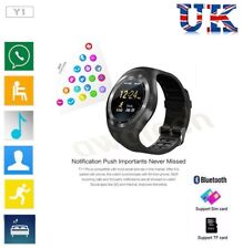 Y1 Smart Bluetooth Watch Phone Mate Sim Card Round Touch Screen for Android IOS