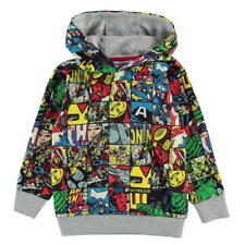 BOYS KIDS CHILDRENS MULTI MARVEL AVENGERS HULK HOODIE HOODY TOP JUMPER SWEATER