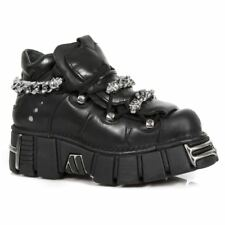 NEWROCK New Rock 616-S1 Black Chain Gothic Biker Boot Leather Boots Shoes