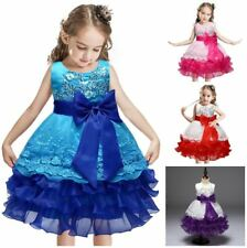 Ball Gown Princess Girls Dress Lined Sequin Wedding Birthday Party Kids Clothes