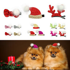 Bling Glitter Christmas Dog Hair Clips Pet Hair Grooming Accessory Xmas Hairpins