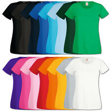 3er Fruit of the Loom T-Shirt Damen Shirts Valueweight Sets Tshirt S - XXL