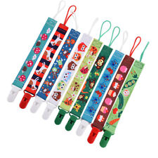 SPIRIUS Dummy Clips Holder Soother Pacifier chain boys girls baby infant strap r