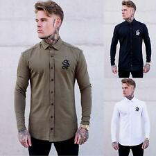 Mens Sinners Attire Jersey Long Sleeve Muscle Stretch Fit Stylish Designer Shirt