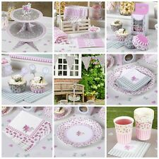 Frills & Spills, Rose Pink & Green Floral Tea Party / Wedding Table Decorations