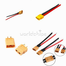 14AWG XT60 Female Male Connector W/ Housing 10CM /100mm Silicon Wire Cable