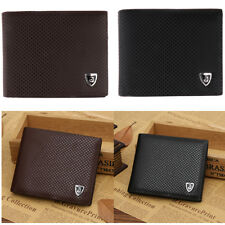 Gents Soft Circular PU Leather Wallet Money Clip ID Credit Card Cash Holder