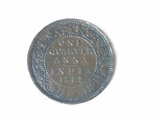 India 1/4 Cuarto De Anna indio MONEDAS 1882