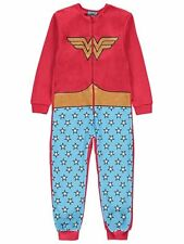 DC Comics Wonder Woman Pyjamas All In One with detachable cape Size 4-14 years