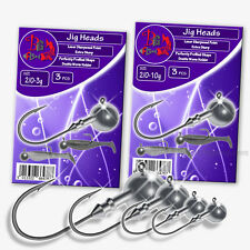 Fishing Jig Heads Set LRF Soft Lure Hook Size 2/0 Sea Tackle Predator Pike Perch