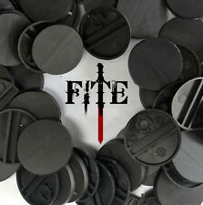 *BRAND NEW* 25mm round black plastic bases for Infinity Warhammer wargaming RPG