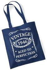 72nd Birthday Gift Tote Shopping Cotton Fun Bag Vintage 1946 Aged To Perfection