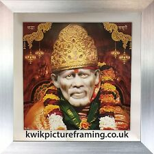 """Sai Baba Of Shirdi Photo Picture Framed -16"""" x 16"""" Inches"""