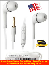 3.5mm In-ear Stereo Earbud Headphone Earphone Headset With MIC fit Sam