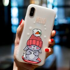 For Apple iPhone X 8 7 6s Plus 5s Cute Cartoon Animal Soft Phone Case Cover Back