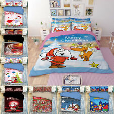 Christmas Kids Quilt Duvet Cover Bedding Bed Sets for All Sizes Bed Santa Xmas