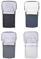 QUILTED UNIVERSAL FOOTMUFF COSY TOES BUGGY PUSHCHAIR STROLLER PRAM BABY TODDLER