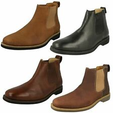 Mens Cardoso Tobacco Mustang Leather Chelsea Boots by Anatomic & Co - £100