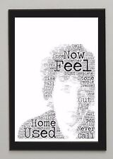 Favourite Song Lyrics Artist Portrait Typography / Word Art - You chose the Song