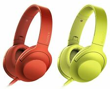 Sony h.ear on MDR-100AAP High Resolution Over-Ear Headphones With Mic. Red,Green