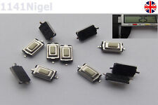3.5x6x2.5mm Tactile Push Button Tact Micro Switch 2-Pin SMD       (Pack of 1-50)