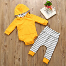 Baby Boys Girls Clothes Hooded Tops Casual Pants Infant Outfits Sets Tracksuit