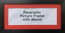 New Panoramic Picture Poster Frames - Red Mount | Multiple Sizes Photo Framing