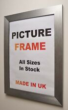 Silver Brushed Picture frames 40 mm wide | All Sizes | New Picture Photo Framing