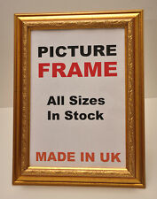 Decorative Gold Picture Frames 40 mm wide All Sizes | Picture Photo Framing