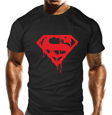 Mens Gym Workout T-Shirt Bodybuilding Loose Fit T Shirt Top Gift Red Super Man
