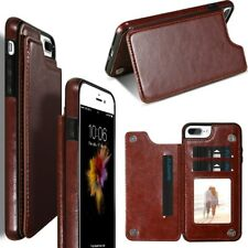 Magnetic Wallet Card Slot Holder Skin Leather Case Phone Cover For iPhone X 8 7