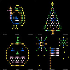 Lite Brite Refill: Holiday 12 sheets for Create With Light / Magic Screen - see
