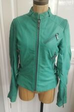 Diesel Womens Leather Jacket Green Astrid various sizes new with tags