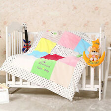 (0-3 MONTHS) COLOURFUL QUILTED DUVET NEWBORN BABY CRIB,COT,BED WITH FILLING