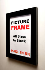 Black Matt Picture frame All Sizes | Picture Photo frames | Made in UK