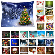 Cold Winter Flannel Blanket with Xmas Print Super Soft Warm Sofa Throw Blanket