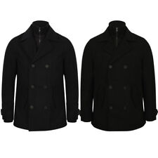 New Mens Tokyo Laundry Hexacode Wool Blend Double Breasted Jacket Size S-XL