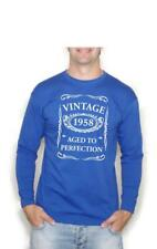 60 Regalo Cumpleaños Vintage 1958 Aged To Perfection CAMISETA MANGA LARGA
