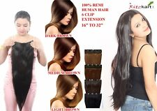 Ritzkart 6 Clip single Fine Quality Remi Human Soft Hair Extension 16 to 32 Inch