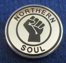 NORTHERN SOUL BADGE - NORTHERN SOUL - PLATED - GOLD OR SILVER PLATE - 3 SIZES
