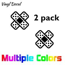 ST00012TX/_1 JAS Stickers TEXT BAND AID Small Scratch Dent Funny Joke Pack Car Stickers Decals
