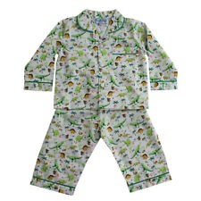 Boys Childrens Rex Dinosaur Long Sleeve Cotton Traditional Pyjamas