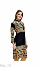 women dress/ Printed kurtis/ ladies kurtis/causal dress/Black kurtis/kurti dress