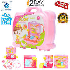 Play Medical Doctor Pretend Kit Kids Set With Carry Case For Girls 18PCS