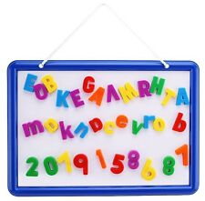 Magnetic Whiteboard with 109 Alphabet Letters & Numbers - ABC Magnets & Dry E...