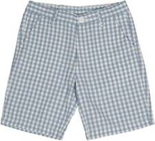 Flying Machine Short For Boys Checkered Cotton White