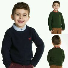 Baby Boys  Knitted Jumper Age 12 18 24 Months Long Sleeves Top 2 3 4 Years NEW