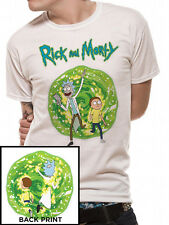 Official RICK AND MORTY Portal Front and Back Print T-Shirt Tee NEW sizes S-XXL