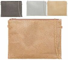 Womens Metallic Prom Party Evening Dressy Occasion Hand Clutch Bag
